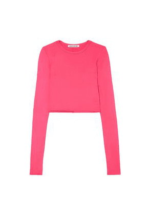 Elizabeth And James Desmond Cropped Stretch-jersey Top Woman Bright pink Size XS