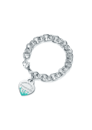 Return to Tiffany™ Color Splash heart tag bracelet in silver, extra small