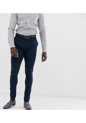 ASOS DESIGN Tall super skinny fit suit trousers in navy