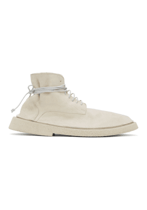 Marsell White Pallacco Lace-Up Boots