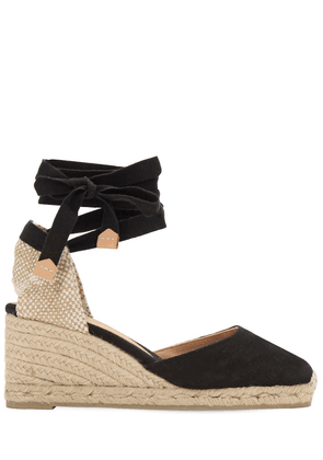60mm Carina Canvas Espadrille Wedges