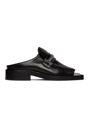 Martine Rose Black Open Toe Loafers