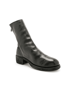 Guidi Leather Horse Zip Back Boots in Black - Black. Size 45 (also in ).