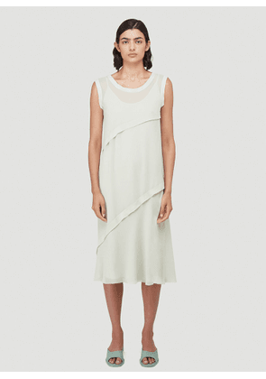 Acne Studios Bias-Cut Georgette Dress in Green size FR - 34