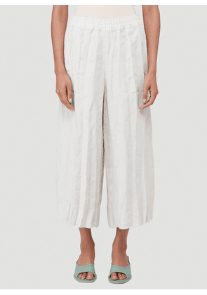 Acne Studios Crinkle-Effect Pleated Pants in White size FR - 36