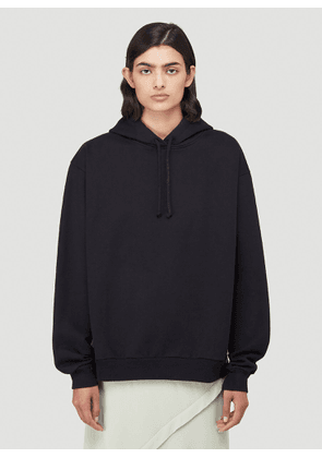 Acne Studios Contrast-Panel Hooded Sweatshirt in Black size S