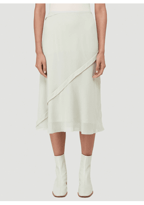 Acne Studios Layered Georgette Skirt in Green size FR - 36