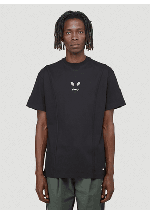 Ader Error Graphic-Print T-Shirt in Black size A2