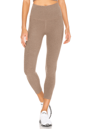 Beyond Yoga Walk And Talk Legging in Taupe. Size XS,M,L.
