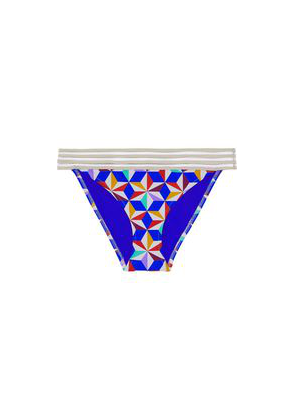 Emma Pake Adriana Mesh-trimmed Printed Low-rise Bikini Briefs Woman Multicolor Size XS