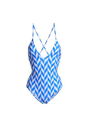 Emma Pake Printed Swimsuit Woman Blue Size XS