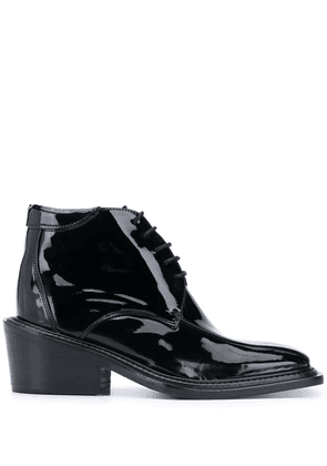 Martine Rose square toe ankle boots - Black