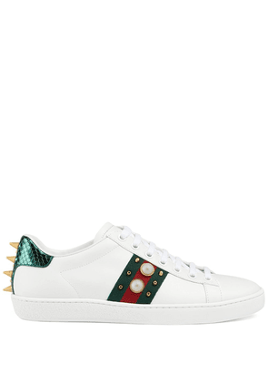 Gucci Ace studded sneakers - White