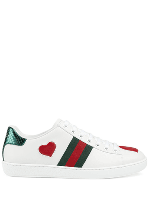 Gucci heart Ace sneakers - White