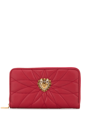 Dolce & Gabbana Devotion continental zipped wallet - Red