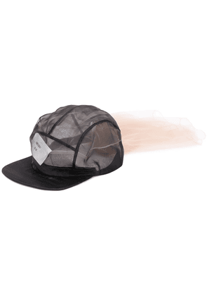 Quetsche tulle panel baseball cap - Black