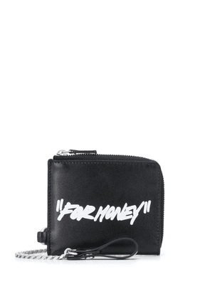 Off-White 'For Money' print wallet - Black