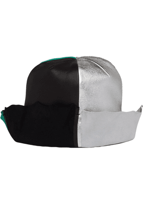 Prada colour block panelled hat - Grey