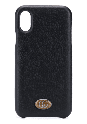 Gucci logo-plaque iPhone X case - Black