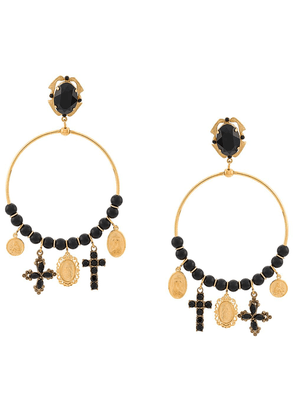 Dolce & Gabbana drop pendant hoop earrings - GOLD