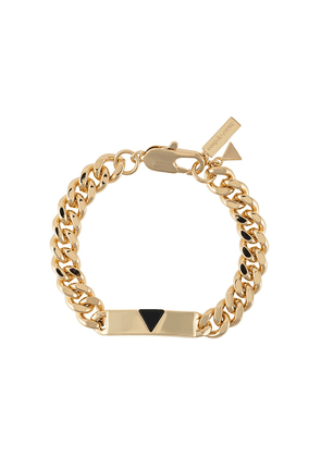Coup De Coeur pyramid tag anklet - GOLD