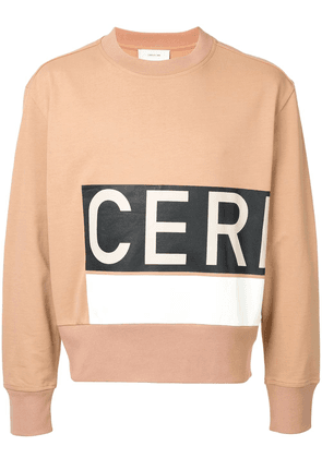 Cerruti 1881 logo print sweatshirt - Brown