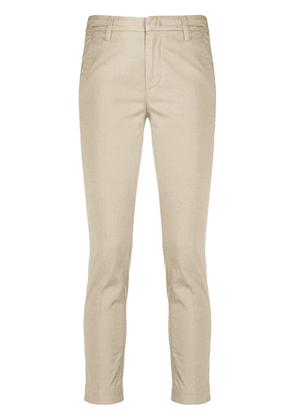 Dondup cropped mid-rise trousers - NEUTRALS