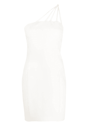 Barbara Bui one shoulder fitted dress - White