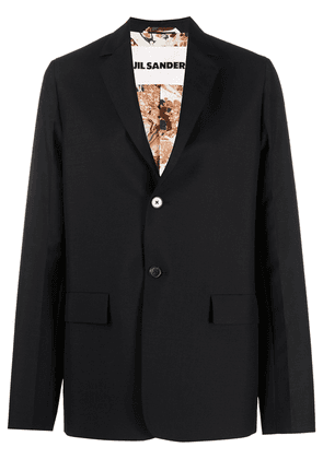 Jil Sander oversized single-breasted blazer - Black