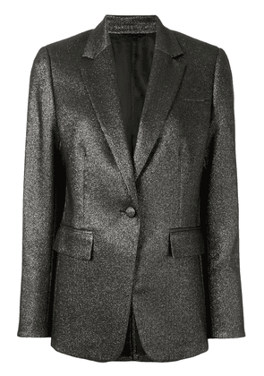 CK Calvin Klein metallic single breasted blazer - SILVER