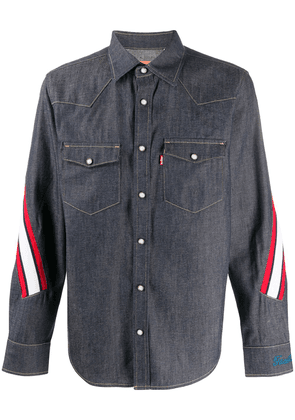 Facetasm striped denim shirt - Blue