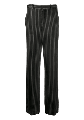 Neil Barrett pinstripe straight leg trousers - Black