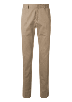 CK Calvin Klein front pleated slim-fit chino trousers - Brown
