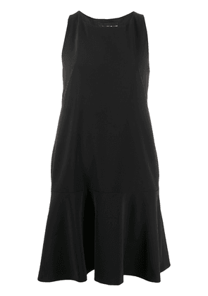 Boutique Moschino bow back flared dress - Black
