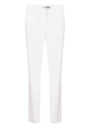Fay mid-rise slim fit trousers - White