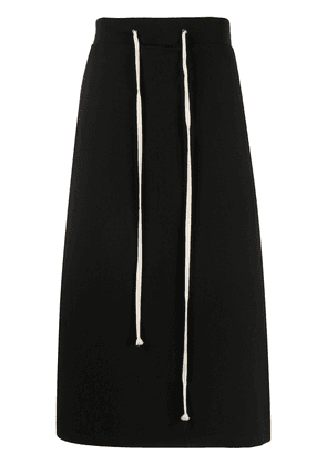Yuiki Shimoji drawstring detail straight skirt - Black