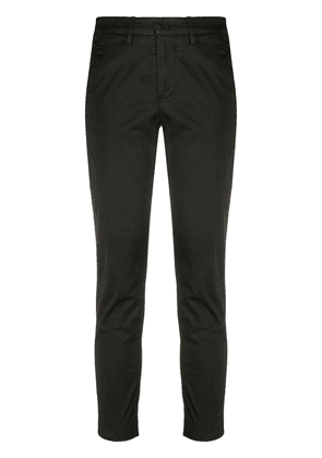 Dondup cropped mid-rise trousers - Black