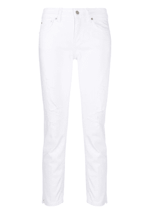 Dondup distressed slim fit jeans - White