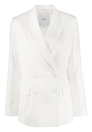 Closed double-breasted blazer - White
