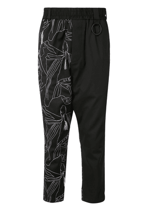 Necessity Sense Mich embroidered trousers - Black