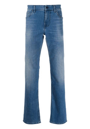 7 For All Mankind light-wash straight leg jeans - Blue