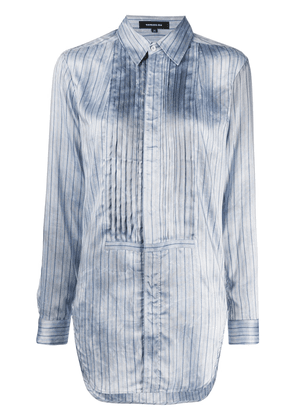 Barbara Bui bib-front pinstriped shirt - Blue