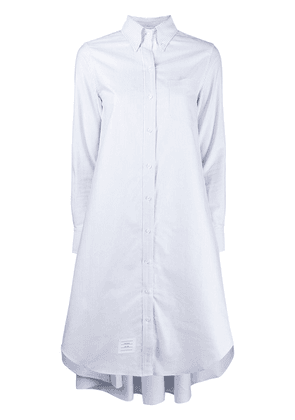 Thom Browne LIGHT BLUE PLACKETING OXFORD PLEAT BACK SHIRTDRESS