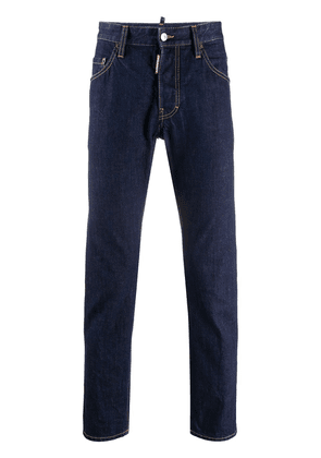 Dsquared2 high-rise straight leg jeans - Blue