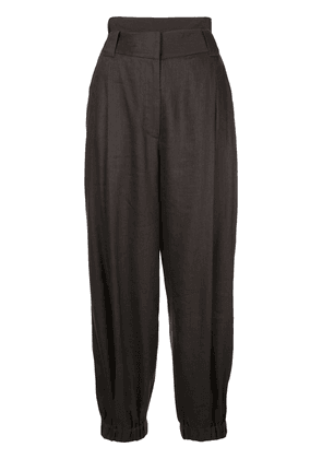 Tibi Wesson double waisted trousers - Black