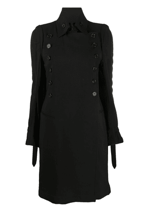 Ann Demeulemeester double-breasted buttoned up coat - Black
