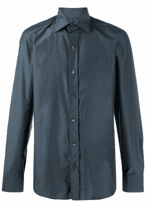 Tom Ford buttoned long-sleeve shirt - Blue