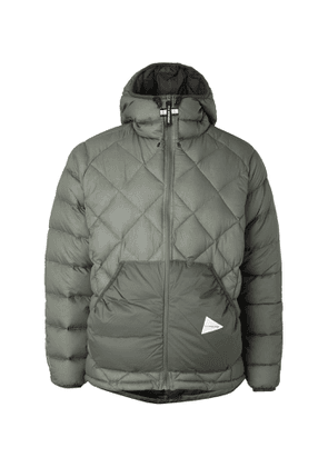And Wander - Quilted Nylon Hooded Down Jacket - Green