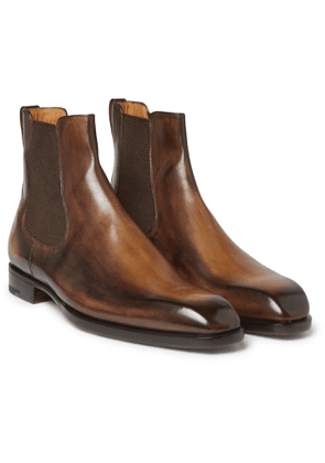 Berluti - Leather Chelsea Boots - Brown