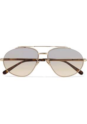 Brioni - Aviator-Style Gold-Tone Sunglasses - Men - Gold